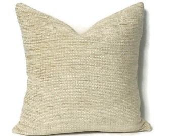 Schumacher Crafton Chenille in the color Cornsilk Pillow Cover