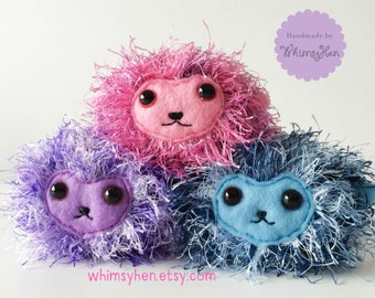 MADE TO ORDER Pygmy Puff - Harry Potter Inspired Plush Toy - Ginny Weasley Hogwarts Pet - Christmas Gift Potter Lover Desk Pet Imaginary Pet