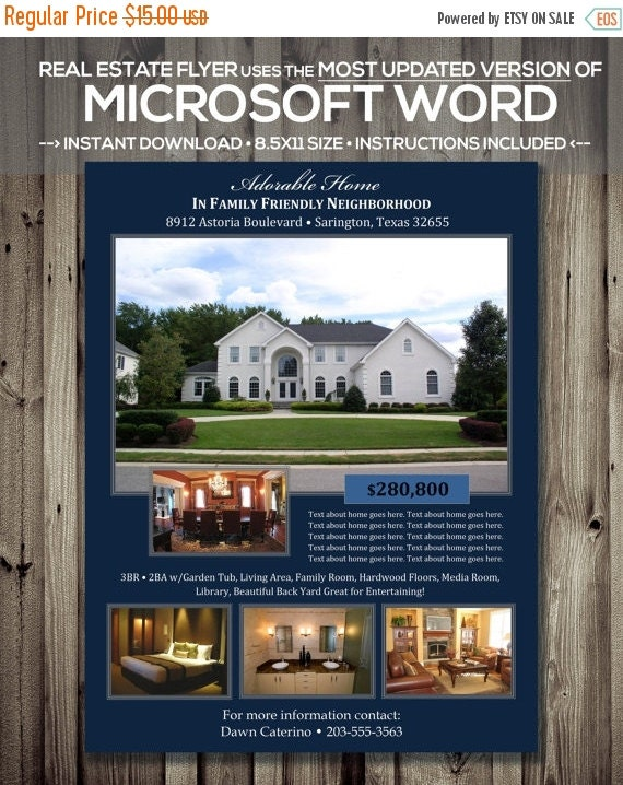 sale real estate flyer template microsoft by scripturewallart