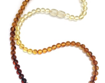 """Amber teething necklace """"Stoicheia"""""""
