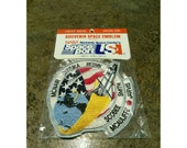 Vintage NASA Challenger space shuttle iron on patch- 80s embroidered patch
