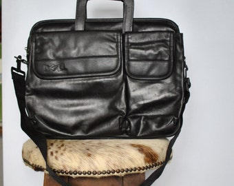 Vintage LAPTOP leather bag , laptop case , travel laptop bag....(186)