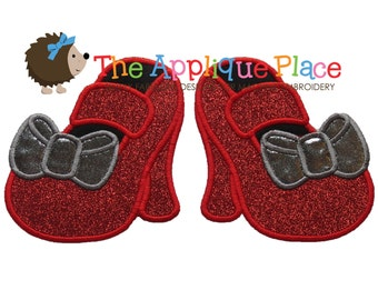 Ruby Slippers - Wizard of Oz - Machine Embroidery Applique Design