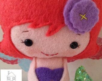 Little Mermaid Felt Doll