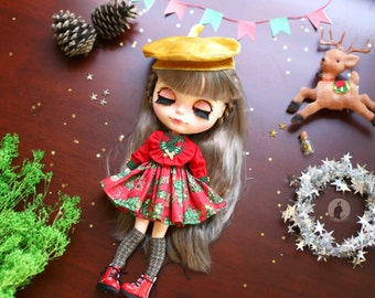 Welcome! Christmas set . / Set of 2 Pcs / Doll clothes for Neo Blythe , Pullip ,Licca dolls.