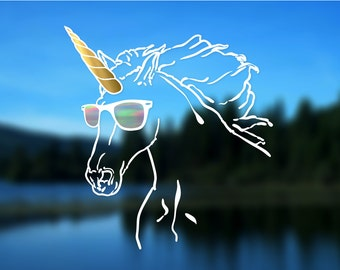 Unicorn Decal, Vinyl Decal, Car Decal, Bumper Sticker, Decal
