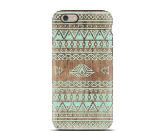 iPhone 7 Plus, iPhone 6 case, iPhone case, iphone 7 case, Tough iphone 7 case, iphone 5 case, iphone 5s case - Aztec Wood