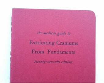 Craniums - Humorous Witty Funny Notebooks, Jotters, Mini Journals - A6 Lined Pocket Notebooks