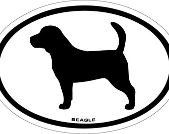 Beagle Vinyl Decal Sticker