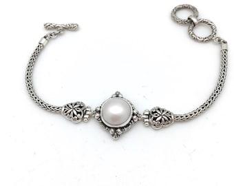 Freshwater Pearl Bali Bracelet