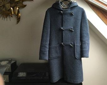 Blue duffel coat