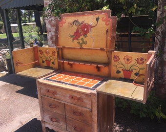 Incredibly Rare Early 1930s Monterey Furniture Dresser Styled Prohibition Bar