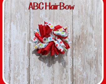 ABC Alphabet Korker Hair Bow