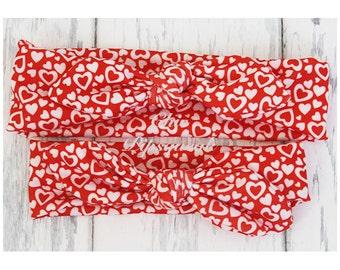 Valentine's Baby Headband, Baby Headwrap, Baby Top Knot Headband, Baby Turban, Headband, Girls Headwrap, Knot Headband, top knot, Valentines