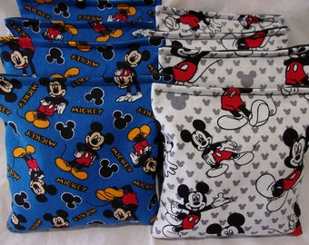 8 ACA Regulation Cornhole Bags -  Minnie Mouse and Mickey Mouse