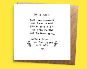I'm Sorry/Sympathy Greeting Card