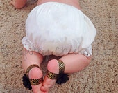 White Baby Bloomers - Diaper Cover - Blank Baby Diaper Cover - Baby Photo Prop - Baby Birthday Accessory -Perfect to Monogram or Personalize