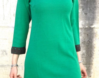 Wool  dress vintage size S , made in italy, 1960