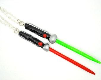 Star Wars Light Saber Necklace