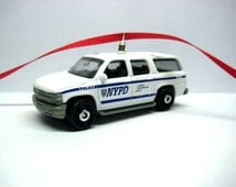 Chevy Suburban NYPD NYC Police SUV Truck Car Christmas Tree Ornament