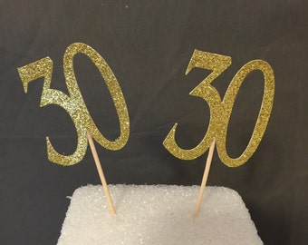 30th Birthday Cupcake Toppers, Birthday Cupcake toppers, Dirty 30 Cupcake Toppers