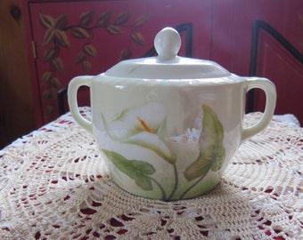 Calla Lily sugarbowl - vintage