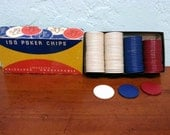 Vintage Poker Chips from the 1950s