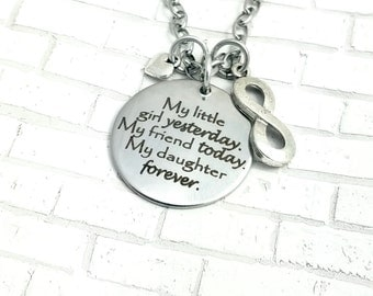 Mother and daughter necklace,family,love,necklace,mother and daughter, mothers day, gift, mom, little girl, wedding, bride