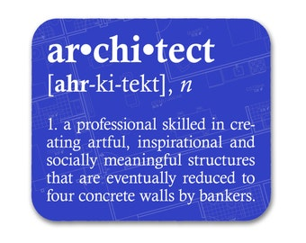 Architect Definition Mouse Pad