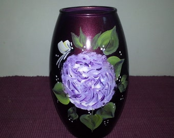 Hand-Painted Glass Vase