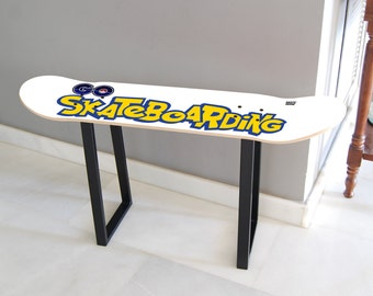 skateboard bench etsy