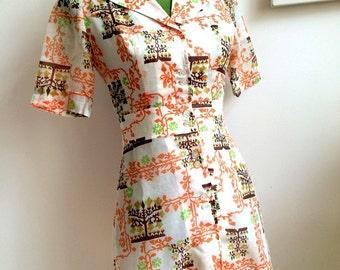 1960s Famosella Mini Dress (S Fit)