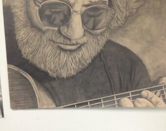 Jerry Garcia Grateful Dead Drawing