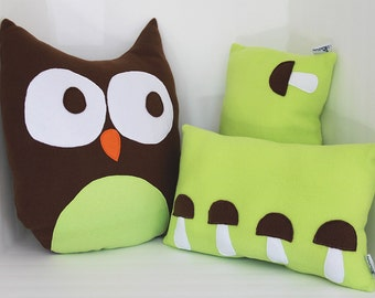 Woodland nursery decor - Green - Woodland nursery - Oscar Owl