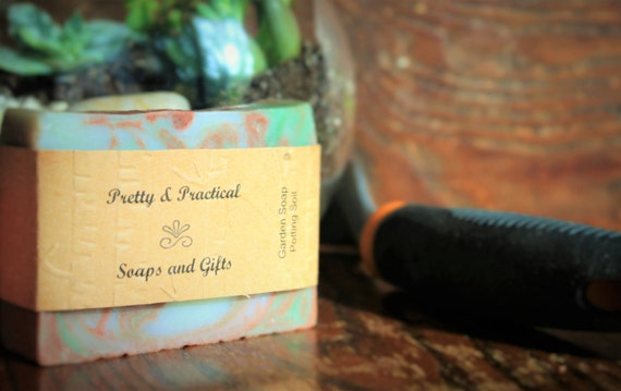 Gardener's Soap~natural, pumice, cold process, handmade soap, palm free