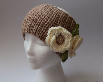 Flower-Child Ear Warmer (Crochet)