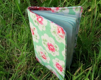Flower.  A fabric passport cover.  Passport sleeve.
