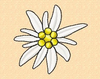 Embroidery pattern - Edelweiss 5 - in 2 sizes