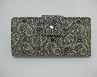 Handmade  Wallet, BiFold Clutch  Downton Abbey, Ladies Wallet, Womens Wallet