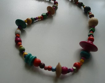 Handmade Multi Colored Beaded Necklace