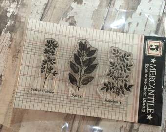 "Jenni Bowlin Studios Mercantile Exclusive ""Botany"" (German) Clear Stamps"