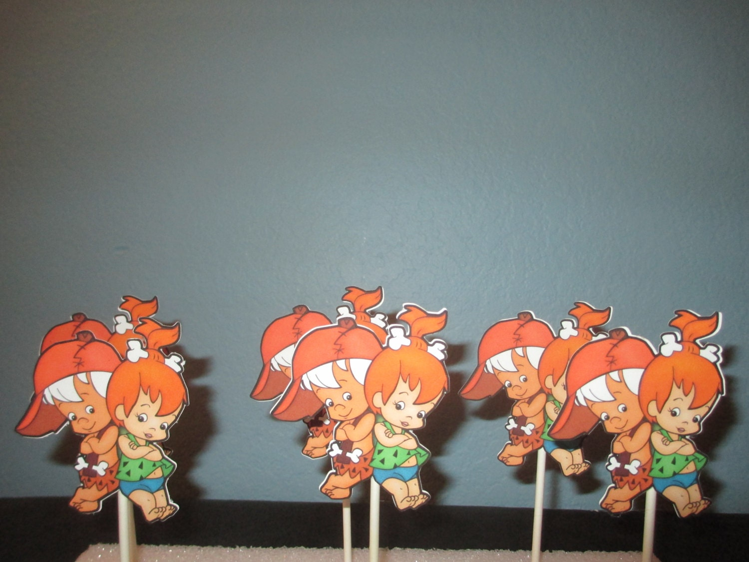 Pebbles And Bam Bam Cupcake Toppers Pebbles Party Pebbles