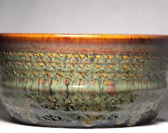 serving bowl, hand-thrown pottery