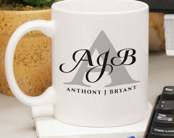 Personalized Initials & Name Coffee Mug