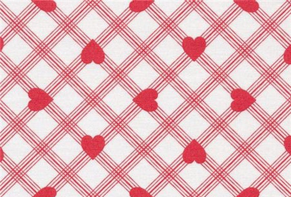 valentine rose by tanya whelan for westminster hearts stripes geometric red white plaid small. Black Bedroom Furniture Sets. Home Design Ideas