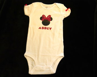 Minnie Mouse Custom onesie/shirt with name