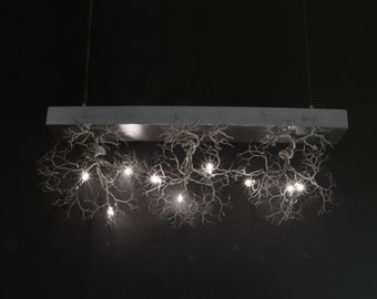 3 Rooted fixture. Small Roots. Handmade, Ceiling light  3 Rooted version.
