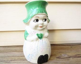 Vintage Dutch Girl Creamer Milk Pitcher Mid Century Made in Japan