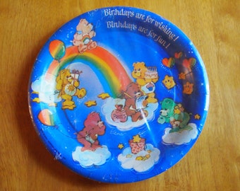 Vintage American Greeting Care Bears Birthday Party Paper Plates