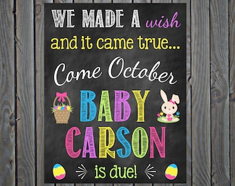 Easter Pregnancy Announcement Easter Pregnancy Reveal Pregnant Easter Pregnancy